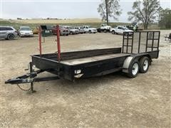2011 H&H 18' Solid Side T/A Utility Trailer