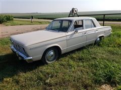 1966 Plymouth Valiant 4 Door Sedan Car