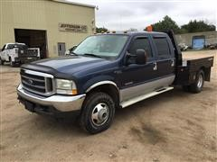 2004 Ford F-350 4x4 Crew Cab Flatbed Pickup