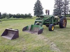 1961 John Deere 4010 2WD Tractor & Loader W/(2) Buckets