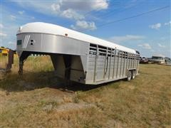 1983 Keifer Built Stockmaster Aluminum Gooseneck Trailer