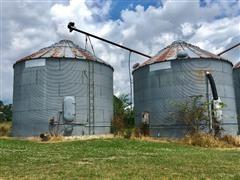 NP 24' Diameter Grain Bins W/Aeration Floors