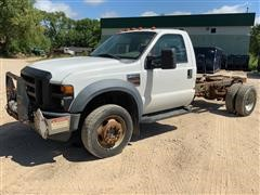 2008 Ford F450 XL Super Duty 4x4 Cab & Chassis