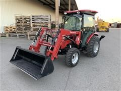 2017 Mahindra 2545ST MFWD Compact Utility Tractor W/Backhoe & Loader
