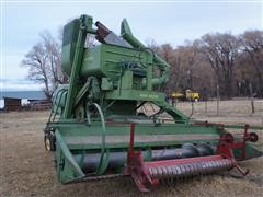 John Deere No 55 Open Cab Round Back Combine & Head