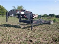 2013 Shop Built 32' Gooseneck Hydraulic Tank/Bin Moving Trailer