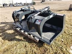 2020 Stout HD72-FB Grapple Bucket Skid Steer Attachment