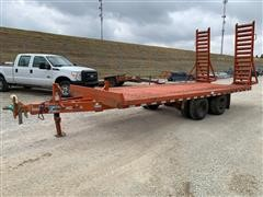 1996 Rice Special-Trencher T/A Flatbed Trailer
