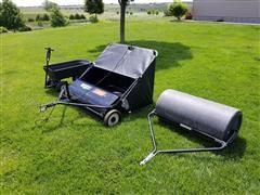Huskee Lawn Sweep/Liquid Roller/HD Dump Cart