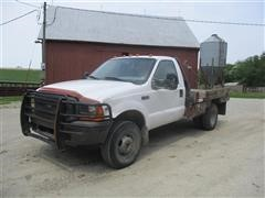1999 Ford F350 XL Super Duty 4X4 Pickup W/Bale Bed