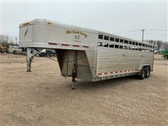 2007 Featherlite 8127 T/A Gooseneck Aluminum Livestock Trailer
