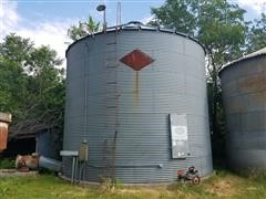 Hi-Plains Perfection Grain Drying Bin W/Dryer, Grain Spreader & Stirway System