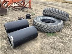 Firestone 380/85/R34 Tires & Hub Spacers