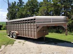 1996 Travalong 20' T/A Livestock Trailer