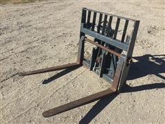 "Gehl Telehandler 48"" Quick-Attach Hydraulic Tilt Pallet Forks"