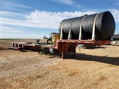 1990 Fontaine 48' T/A Drop Deck Trailer W/2550 Gallon Poly Tank