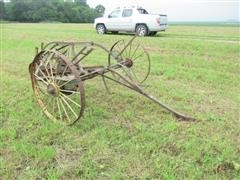 Antique Steel Wheel Hay Rake
