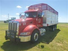 2013 Peterbilt 386 T/A Silage Truck W/MAS 22' Chain Floor Box