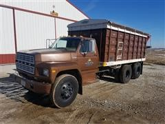 1980 Ford F600 T/A Grain Truck W/Westfield Auger