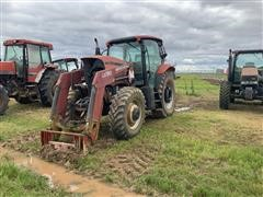 Case IH MXU130 MFWD Tractor W/Loader (FOR PARTS ONLY)