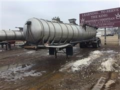 1983 Barbell T/A Stainless Steel Manure Tanker Trailer