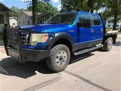 2009 Ford F150 SuperCrew 4x4 Flatbed Pickup