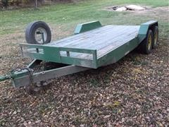 2001 Fastline Flatbed T/A Bumper Hitch Trailer