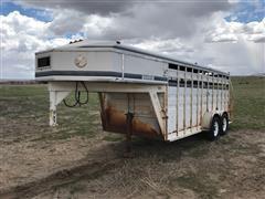 1991 Titan Steel T/A Livestock Trailer