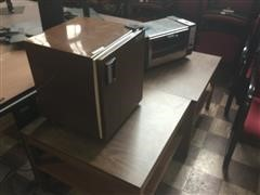 Tables and Refrigerator