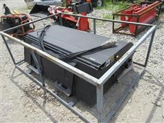 """2016 72"""" Hydraulic Hooded Sweeper Skid Steer Attachment"""