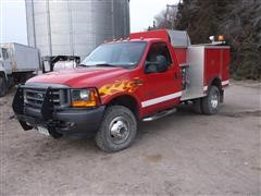 2001 Ford F350 XL Super Duty 4x4 Rural Fire Truck