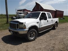 2002 Ford F250 Super Duty Lariat 4X4 Diesel Pickup