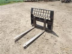 Quick-Attach Skid Steer Pallet Forks