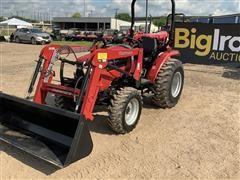 2017 Mahindra 2538NH 4WD Compact Utility Tractor W/Loader