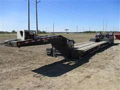 2019 Brazos 55T-26WLB Detachable 55 Ton Quad/A Lowboy Trailer