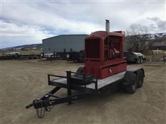 2002 Tce 360FDR8012-GG732 Magna 1-100kw Generator On 2002 TCE 14' T/A Flatbed Trailer