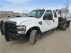 2008 Ford F350 XL Super Duty 4x4 Extended Cab Flatbed Pickup