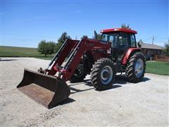 2005 Case IH MXM130 MFWD Tractor W/Case IH LX760 Loader