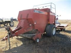 2002 Hesston 4910 Big Square Baler & Accumulator