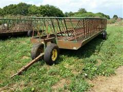 Diller 28' Hay Feeder Wagon