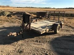 1990 Shop Built Utility Trailer W/Folding Tailgate Ramp