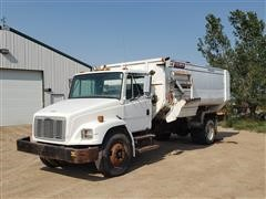 1998 Freightliner FL70 S/A Feed Truck W/Roto-Mix 600-16 Mixer