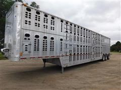 1997 Wilson PS00L-302 Tri/A Aluminum Livestock Pot Trailer