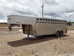 2006 Platinum 7'x22' T/A Aluminum Livestock Trailer