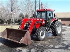 2008 Case IH Farmall 95 MFWD Tractor W/Loader