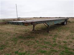 1967 Timpte 40' T/A Flatbed Trailer W/ 7' Hay Extension
