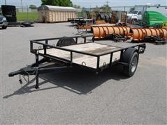 2015 Custom Small Equipment Flatbed Trailer
