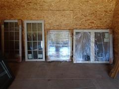 5 - Vinyl Double Pane Windows With Lattice Inserts Various Style