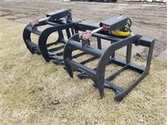 """2020 Mid-State 71"""" Wide Root/Brush Grapple Skid Steer Attachment"""