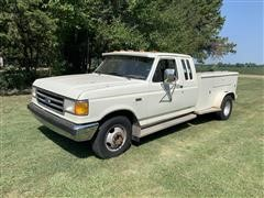 1990 Ford F350 2WD Extended Cab Dually Service Truck